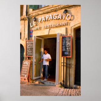 Restaurant, Aix-en-Provence Print