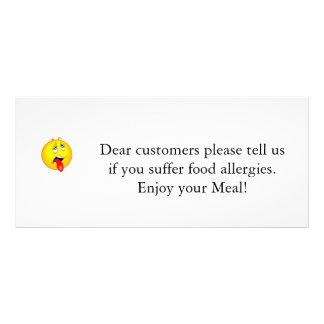 Restaurant Allergy Notice v2.0 Rack Card
