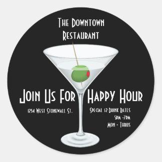 Restaurant Bar Happy Hour Advertisement Sticker