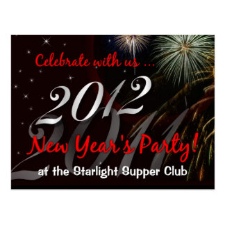 Restaurant-Bar-Nightclub New Years Eve Party Promo Postcard