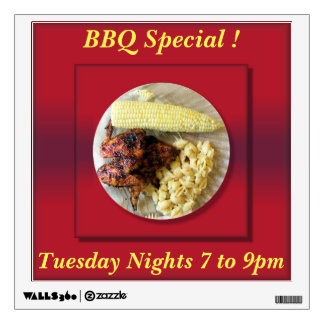 Restaurant BBQ Special Advertisement Wall Graphic