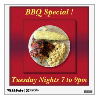 Restaurant BBQ Special Advertisement Wall Sticker