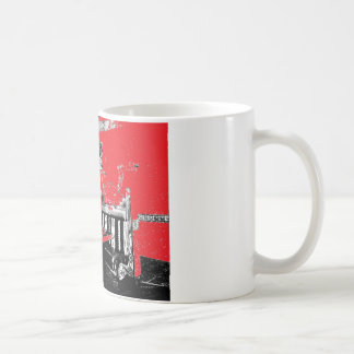 Restaurant Booth in Red Coffee Mug