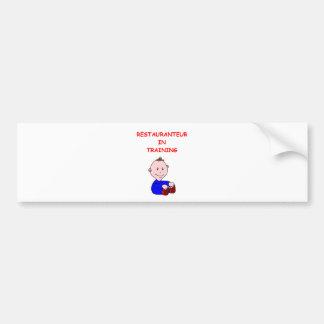 restaurant bumper stickers