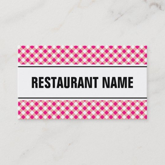restaurant business card template red tablecloth zazzle com