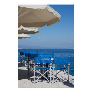 Restaurant By Sea Poster