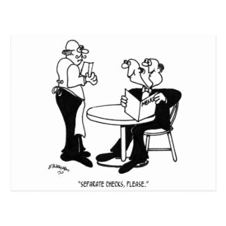 Restaurant Cartoon 4334 Postcard