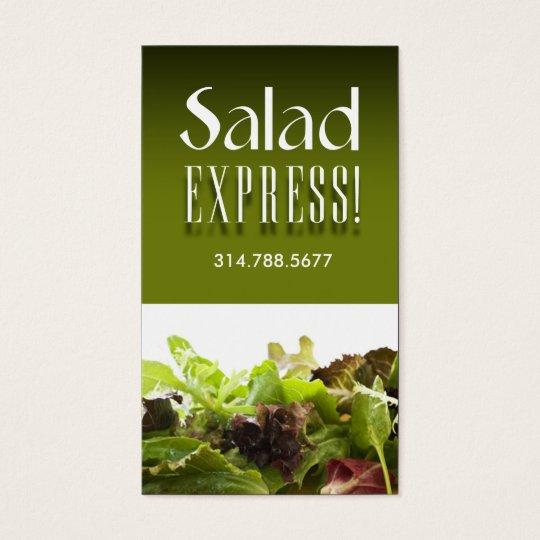 Restaurant Catering Eateries Cuisine Salad Bar Business Card