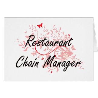 Restaurant Chain Manager Artistic Job Design with Card