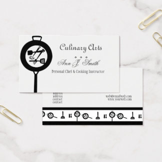 Restaurant Chef Culinary Business Card