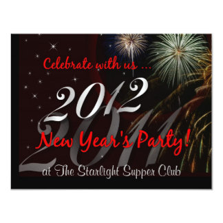 Restaurant - Club - New Year's Eve Party 4.25x5.5 Paper Invitation Card