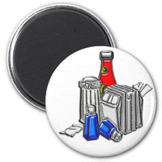 Restaurant Condiments Art 2 Inch Round Magnet
