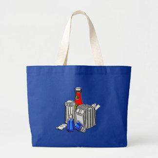 Restaurant Condiments Art Large Tote Bag