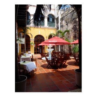 Restaurant Courtyard Postcard