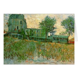Restaurant de la Sirene at Asnieres by van Gogh Stationery Note Card