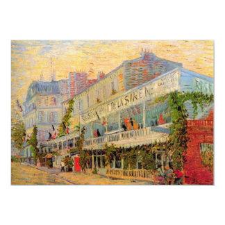 Restaurant de la Sirene at Asnieres by van Gogh 5x7 Paper Invitation Card