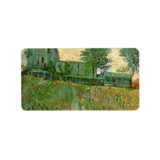 Restaurant de la Sirene at Asnieres by van Gogh Address Label