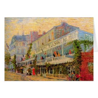 Restaurant de la Sirene en Asnieres de Van Gogh Felicitación