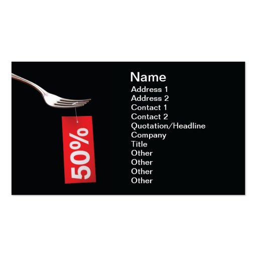 Restaurant discount business cards zazzle for Cheep business cards