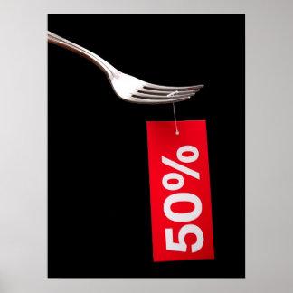 Restaurant discounts poster