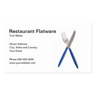 Restaurant Flatware Business Card