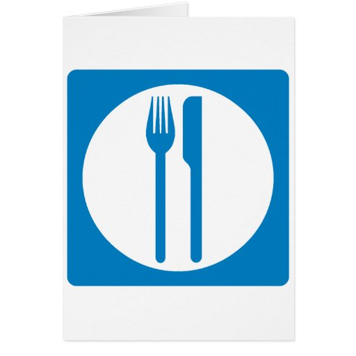 Restaurant Highway Sign Greeting Card