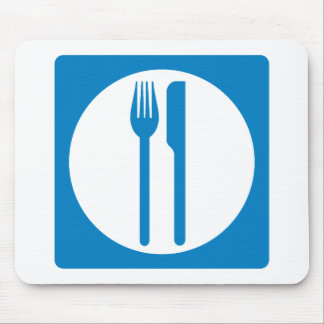 Restaurant Highway Sign Mouse Pad