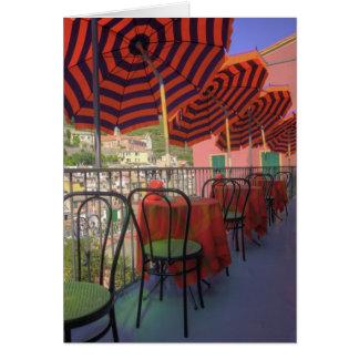 Restaurant in hillside town of Vernazza, Cinque Card