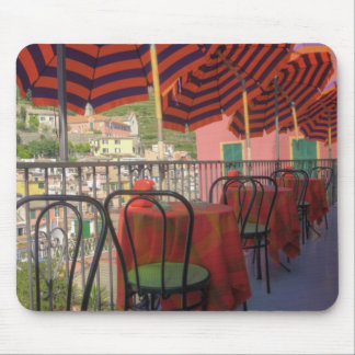 Restaurant in hillside town of Vernazza, Cinque Mouse Pad
