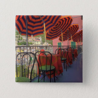 Restaurant in hillside town of Vernazza, Cinque Pinback Button