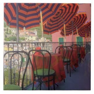 Restaurant in hillside town of Vernazza, Cinque Tile