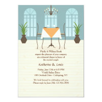 Restaurant Interior Invitation