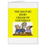 restaurant joke cards