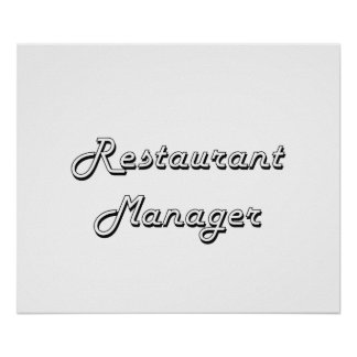 Restaurant Manager Classic Job Design Poster