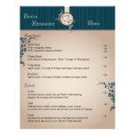 Restaurant Menu - Vintage Beige Chef Hat Utensils Custom Letterhead