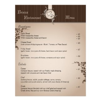 Restaurant Menu - Vintage Beige Chef Hat Utensils Letterhead Template