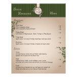 Restaurant Menu - Vintage Beige Chef Hat Utensils Customized Letterhead