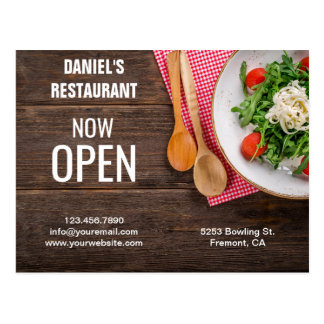 Restaurant Opening   Now Open   Direct Mail Postcard
