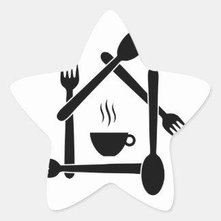 restaurant or a cafe star sticker
