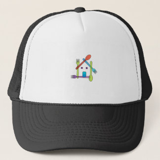 restaurant or a cafe trucker hat