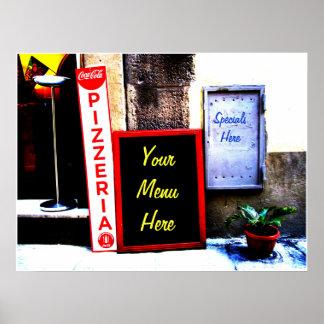Restaurant or Kitchen Menu Poster