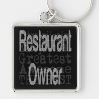 Restaurant Owner Extraordinaire Silver-Colored Square Keychain