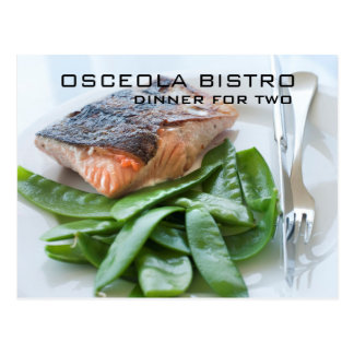 Restaurant Photo Gift Certificate Cards Postcard