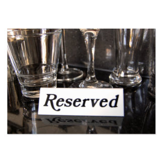 Restaurant reserved business card