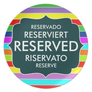 restaurant reserved table sign text symbol plate