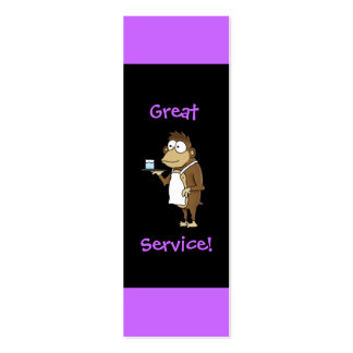 Restaurant Server Tip Card Business Cards