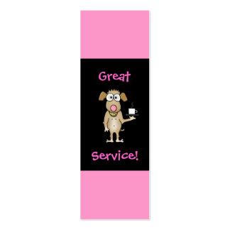 Restaurant Server Tip Cards Business Card Templates