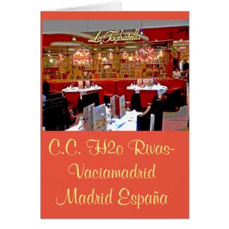Restaurant shopping mall H2O of Rivas vaciamad Card