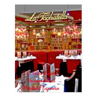 Restaurant shopping mall H2O of Rivas vaciamad Postcard