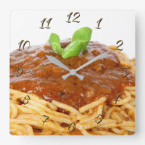 Restaurant Square Wall Clock